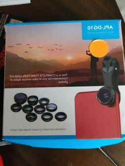 Apexel 10 in 1 Cell Phone Camera Lens Kit Wide Angle MacroLe
