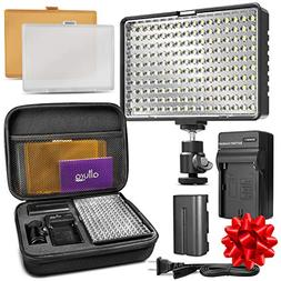 Altura Photo 160 LED Video Light for DSLR Camera and Camcord