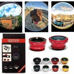 3in1 Clip Fish Eye+Macro+Wide Angle Lens Camera kit for iPho