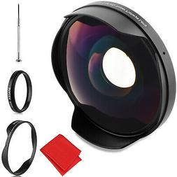 Opteka .3x Fisheye Lens for Canon and Sony 58mm Threaded Vid