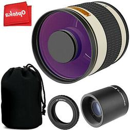 Opteka 500mm/1000mm f6.3 Telephoto Mirror Lens for Canon EF