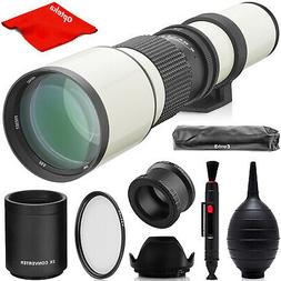 Opteka 500mm/1000mm Telephoto FE SEL Lens for Sony E-Mount M