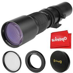 Opteka 500mm Telephoto Lens for Canon EOS EF Mount DSLR Came