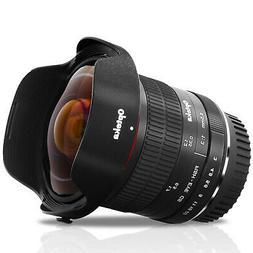 Opteka 6.5mm Wide Angle Fisheye Lens for Canon EOS APS-C EF