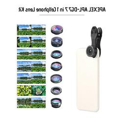 7in1 CellPhone Camera Lens Kit for iPhone Android Samsung Sm