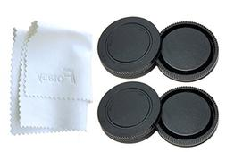 Fotasy RBE2X 2x Rear Lens Cover and Camera Body Cap Set with