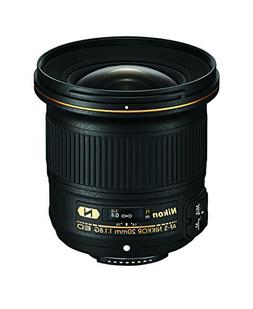 Nikon AF-S FX NIKKOR 20mm f/1.8G ED Fixed Lens with Auto Foc