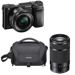 Sony a6000 24.3 MP Mirrorless Camera with 16-50mm & 55-210mm