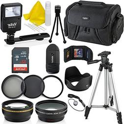 Professional 58MM Accessory Bundle Kit for Canon Rebel T6i T