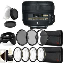 Nikon AF-S NIKKOR 50mm f/1.8G Lens with Accessory Kit For Ni