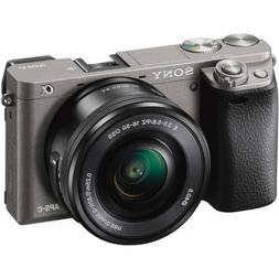 Sony Alpha a6000 24.3MP Grey Interchangeable Lens Camera wit