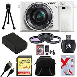 Sony Alpha a6000 White Camera with 16-50mm Power Zoom Lens 6