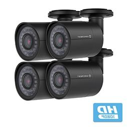 4-Pack Amcrest Full HD Bullet Outdoor Security Camera , 2MP