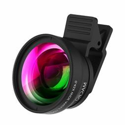 Cell Phone Camera Lens 2 In 1 Clip-On Lens Kit 0.45X Super W