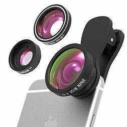 Yantop Cell Phone Camera Lens, 3 in 1 Cell Phone Lens Attach