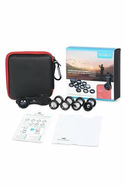 Cell Phone Camera Lens Kit: 10 in 1 Clip On Attachment Lense