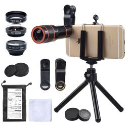 Cell Phone Camera Zoom Lens Kit, Photo Zooming Attachment, F