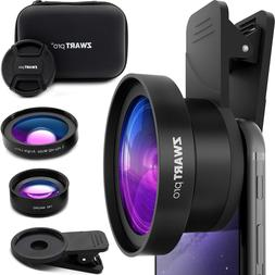 Cell Phone Lens Attachment | ZWARTpro 2 in 1 Wide Angle & Ma