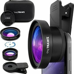 Cell Phone Lens Attachment 2 In 1 Wide Angle &amp Macro Came