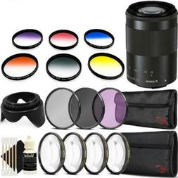 Canon EF-M 55-200mm f/4.5-6.3 IS STM Lens  with Accessory Ki