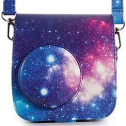 Woodmin Compatible Galaxy PU Leather Instax Camera Case Bag