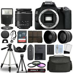 Canon EOS 250D / Rebel SL3 SLR Camera + 3 Lens Kit 18-55mm +