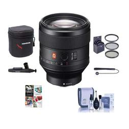 Sony FE 85mm F1.4 GM  E-Mount NEX Camera Lens - Bundle with