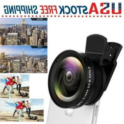 Fish eye Wide Angle Lens Camera Clip on Cell Phone For Unive