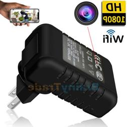 HD 1080P WIFI Spy Camera Hidden Lens Wall Charger IP Cam Rea