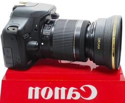 HD WIDE ANGLE LENS + MACRO FOR  Canon EOS WITH EF-S 18-55mm