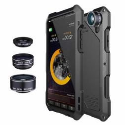 For iPhone XR XS Max 8 Plus 3 Waterproof Camera Lens Shockpr