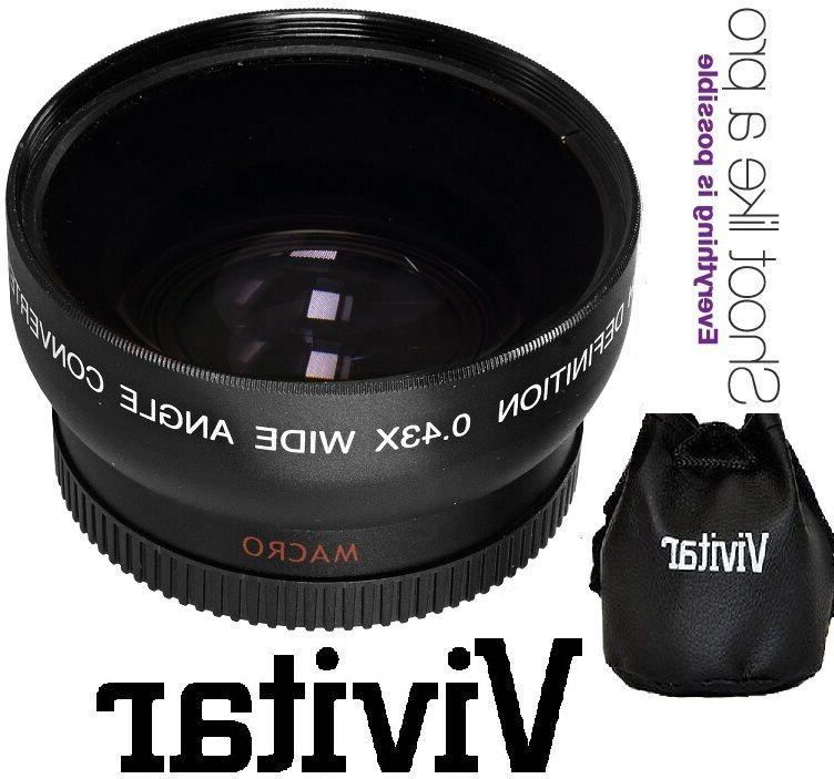 43mm 2-Pc Def Telephoto Wide Angle Set For Camera Camcorder