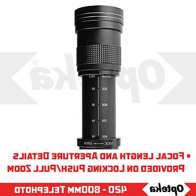 Opteka 420-1600mm Lens DX FX Mount Cameras
