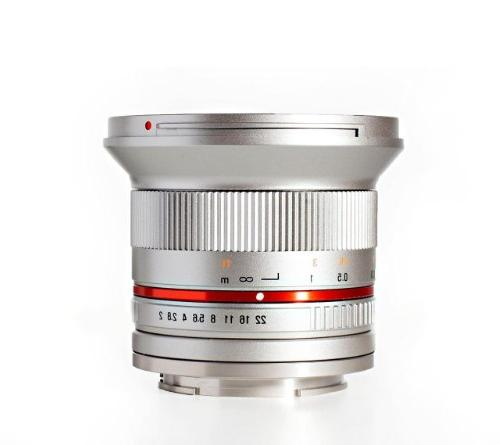 Rokinon RK12M-FX-SIL 12mm F2.0 Ultra Wide Angle Lens for Fuj