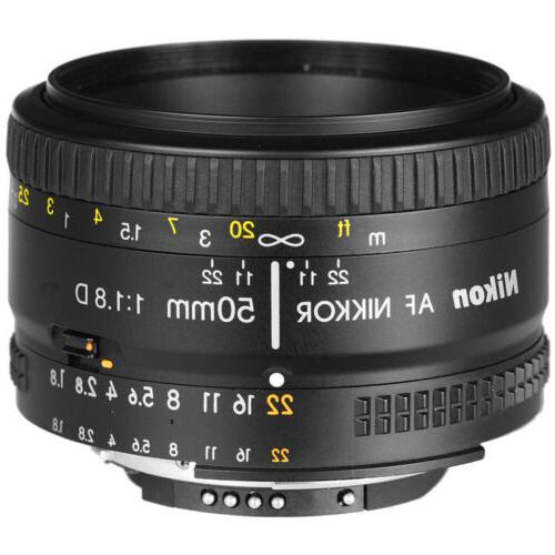 Nikon 50mm f/1.8D AF Nikkor Lens for Nikon Digital SLR Camer