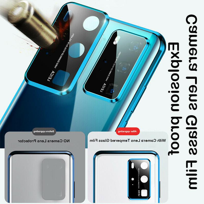 For Galaxy 20 S20 Magnetic Glass Case Lens Protect