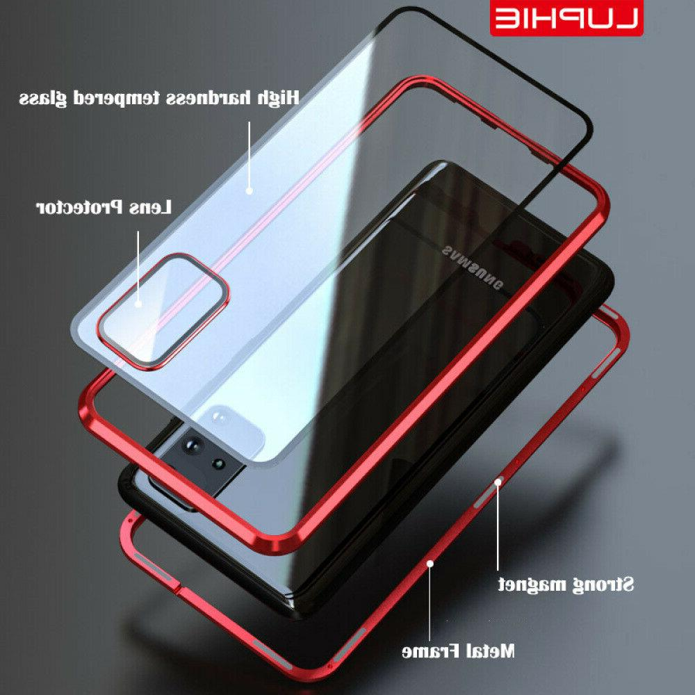 For Ultra/S20 Magnetic Glass Case+Camera