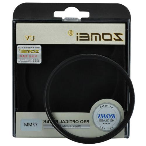 ZOMEI UV Filter 52/55/58/62/67/72/77/82mm for Canon Nikon So