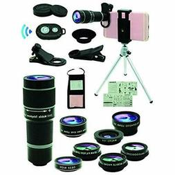 Lens Attachments Cell Phone Camera Kit,11 In Universal 20x Z