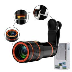 Lens 12x Zoom Telephoto Lens Phone Lens Attachments Cell Pho