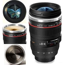 Bestic Camera Lens Coffee Mug,the Latest Design Stainless St