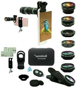 Bostionye mobile phone lens. Multiple lenses that attach to