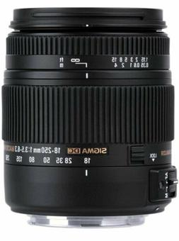 NEW Sigma 18-250mm f3.5-6.3 DC MACRO OS HSM Lens for Nikon D