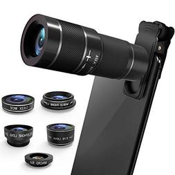 Phone Camera Lens Kit, 6 in 1 Cell Phone Camera Lens with 18
