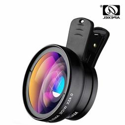 Apexel Phone Lens Kit 0.45x Super Wide Angle & 12.5x Super M