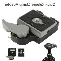 Quick Release SLR DSLR Camera Lens Tripod Clamp Plate Adapte