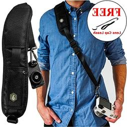 Dupe Accessories Quick Release Camera Neck Strap w/Lens Cap