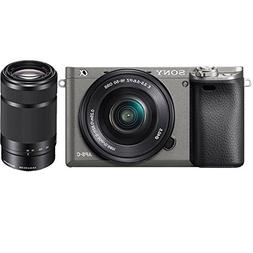 Sony Alpha a6000 Mirrorless Camera w/16-50mm Lens, and E 55-