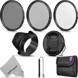 58MM Altura Photo UV CPL ND4 Professional Lens Filter Kit an