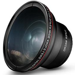 55MM 0.43x Altura Photo Professional HD Wide Angle Lens  for